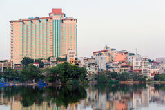 Lake Truc Bach lake in the center of the capital of Vietnam Hanoi Stock Photo