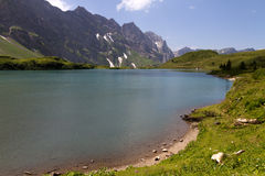 Lake Truebsee near Engelberg Stock Image