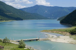 Lake Tskhinvali, Georgia Greater Caucasus. Lake - reservoir Tskhinvali, South Ossetia Greater Caucasus Royalty Free Stock Images