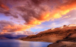Lake Tso Moriri Stock Images