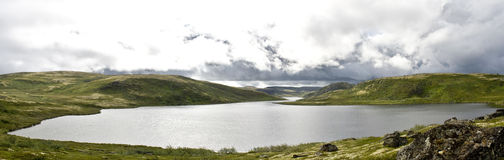 Lake in Tundra. Small lake in tundra (Kola Peninsula, Arctic zone, Russia Stock Images