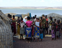 Nunnor av kristen kyrktar stammen för köphemslöjdafrikanen fotografering för bildbyråer