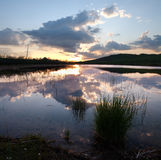 Lake In Twilight Stock Image