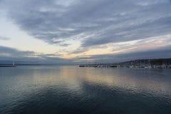 Lake at twilight Stock Photo