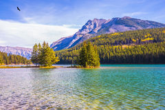 The lake Two Jack and small island Royalty Free Stock Image