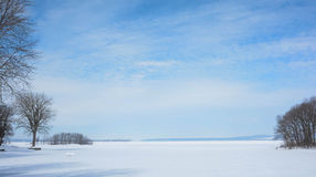 Lake of Two Mountains: Winter Stock Image