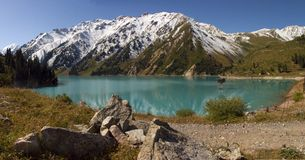 Lake in Tyan-shan Royalty Free Stock Photo