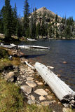 Lake and Uinta mountains Stock Photography
