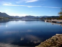 Lake Ullswater. In the Lake District stock photo
