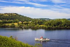 Lake Ullswater. Royalty Free Stock Photography