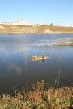 Lake under a blue sky. The original ecology of the lake under a blue sky Royalty Free Stock Photography