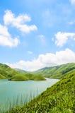 Lake under the blue sky Stock Photo