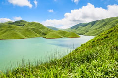 Lake under the blue sky Stock Photography