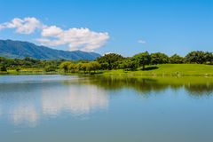 A lake under the clear sky Royalty Free Stock Photography