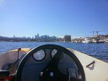 Boating On Lake Union Seattle, Washington royalty free stock photo