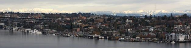 Lake Union, Mountain, Snow Royalty Free Stock Photography