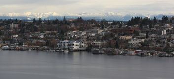Lake Union, Mountain, Snow Stock Images