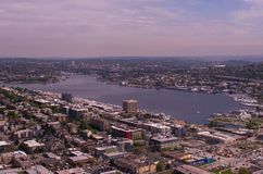Lake Union in Seattle. Aerial view of South Lake Union in Seattle Stock Image