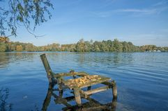 Lake Unterbacher See,Duesseldorf,Germany Royalty Free Stock Image
