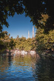 Lake in Urfa city Stock Photography