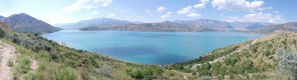 Lake. In Uzbekistan Stock Photo
