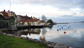 Lake in Västervik, Sweden, Scandinavia Stock Photography