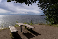Lake Vaettern near Hjo Stock Photos