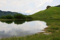 Lake in Val Gardena Stock Photo