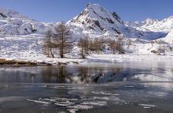 Lake of vallee des Merveilles Royalty Free Stock Photos