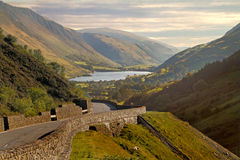 Lake in the Valley. The Tal-y-llyn is a lake near the Southern end of the Snowdonia National Park Stock Image