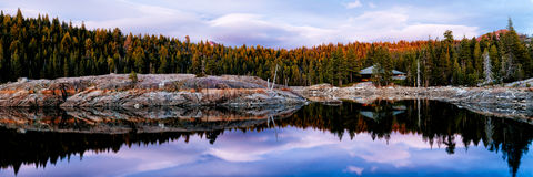Lake Valley. A camp on a lake in the Sierra Nevadas Royalty Free Stock Images