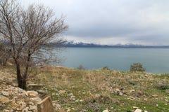 Lake Van and mount Ararat Stock Photos
