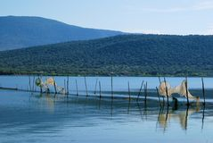 Lake Varano APULIA Arkivbilder