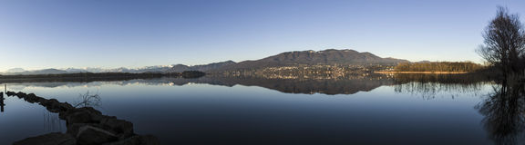 Lake of Varese, landscape Royalty Free Stock Photos