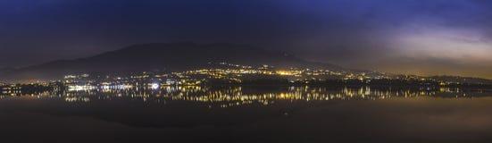 Lake of Varese, night landscape Stock Images