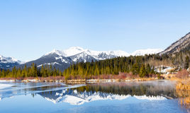 Lake Vermilion and mountains Royalty Free Stock Photography