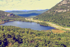 Lake in Vermont. Small lake near mountain in Vermont Royalty Free Stock Image