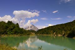 Lake of Verzegnis italy Stock Images
