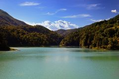 Lake of Verzegnis italy Stock Image