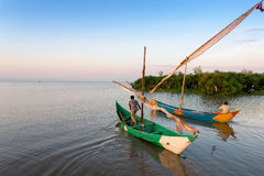 Lake victoria fishermen go to work Royalty Free Stock Image