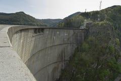 Lake Vidraru dam Romania royalty free stock image