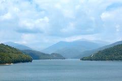 Lake Vidraru summer landscape (Romania). Stock Images