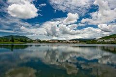 Lake view. Small lake on island Hainan (China Stock Photo