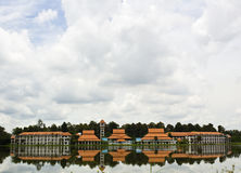 Lake View. Beautiful Lakeview with the Reflection of Buildings Royalty Free Stock Photography