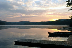 Lake view at 6am. Lake view in the early morning Royalty Free Stock Photography