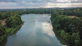 Lake view from above germany stock photo