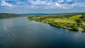 Lake view from above germany royalty free stock images
