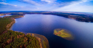 Lake view from above Royalty Free Stock Photography