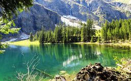 lake view in alps Stock Photo