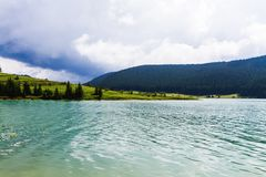 Lake view in a bad weather royalty free stock photography